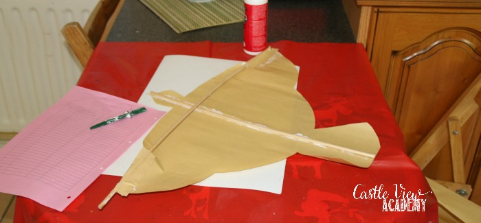 Making a Chinese Lark Kite at Castle View Academy homeschool