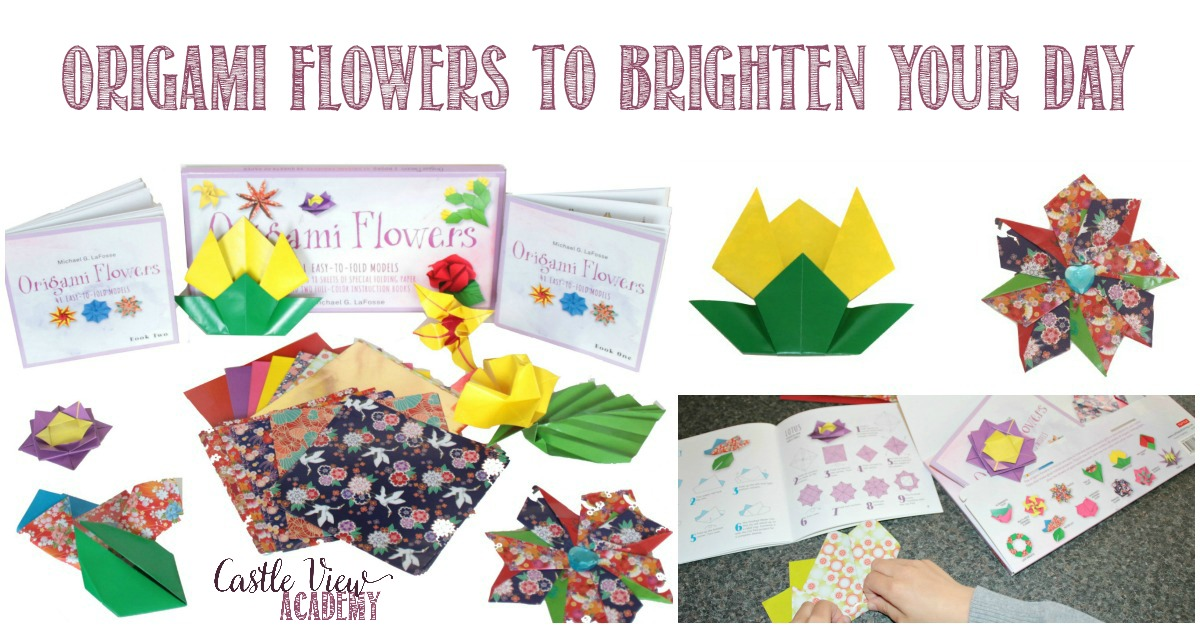 Origami Flowers To Brighten Your Day at Castle View Academy
