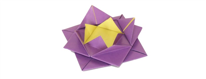 Origami lotus flower at Castle View Academy