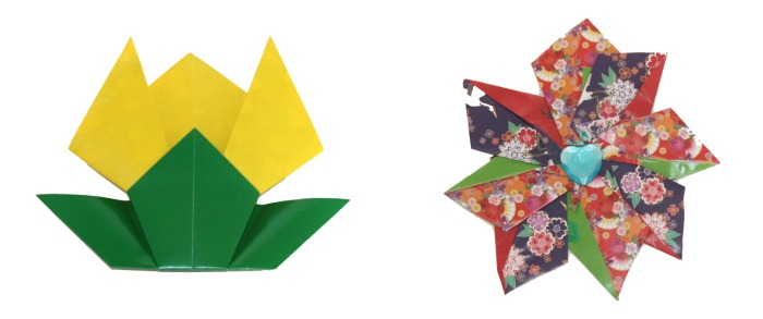 folded origami flowers