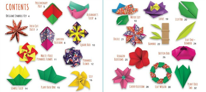 origami flowers directions included