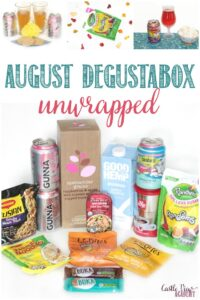 August Degustabox unwrapped