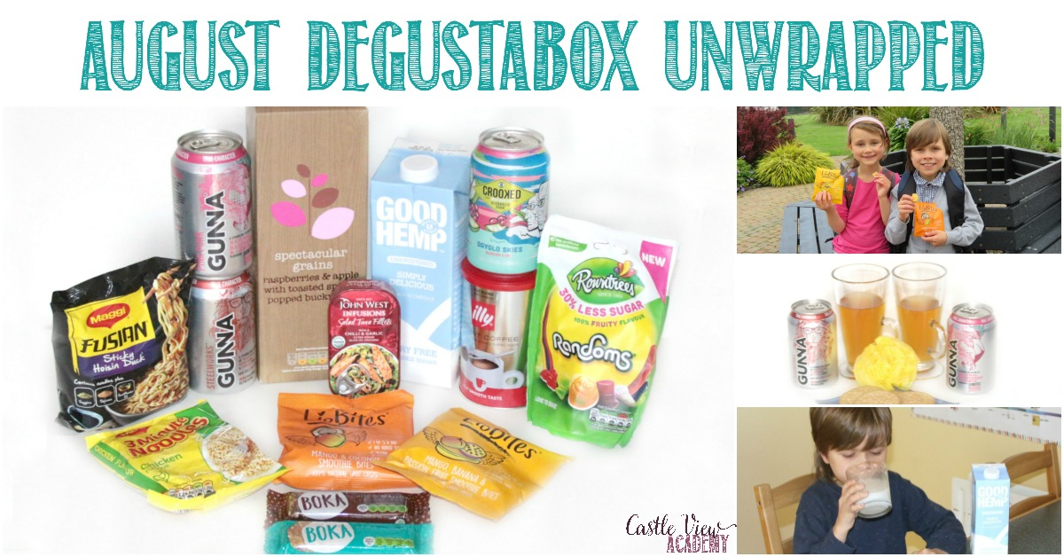 August Degustabox unwrapped at Castle View Academy