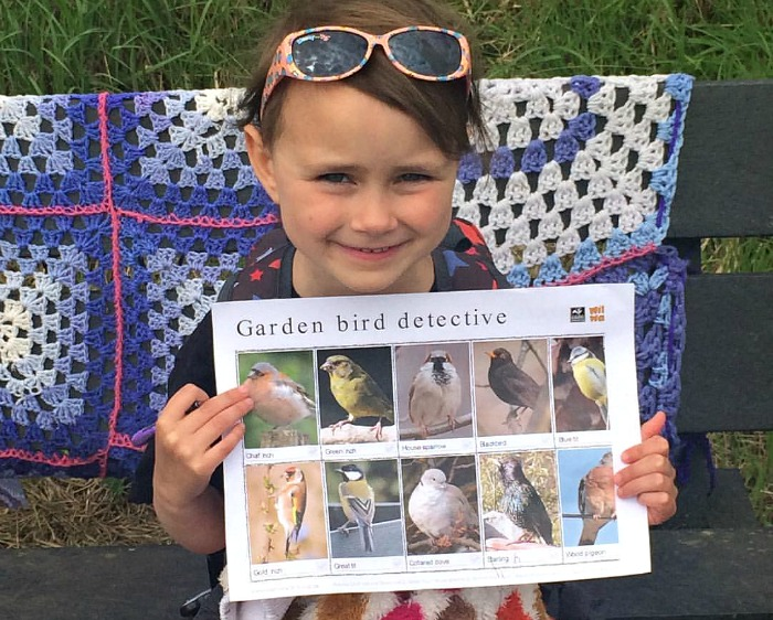 Bird spotting at the biodiversity summer school with the Conservation Volunteers and Castle View Academy homeschool