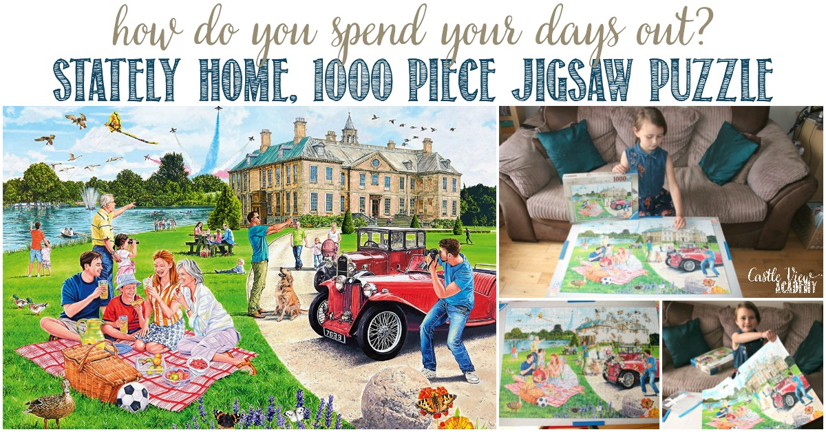 Castle View Academy builds a Stately Home puzzle