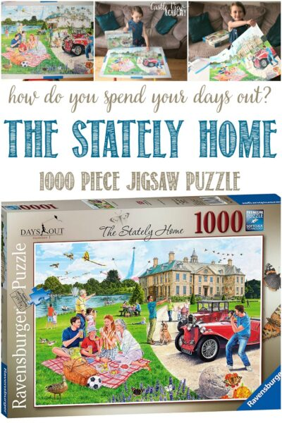 Castle View Academy homeschool builds a Stately Home puzzle