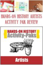 Castle View Academy homeschool reviews Homeschool in the Woods Artists Activty Pak