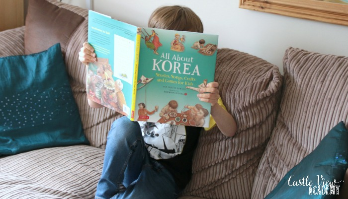 Castle View Academy reading All About Korea
