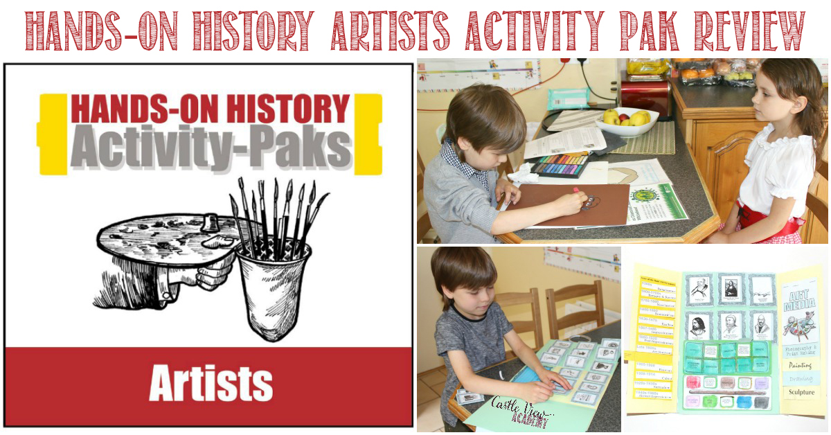 Castle View Academy reviews Homeschool in the Woods Artists Activty Pak