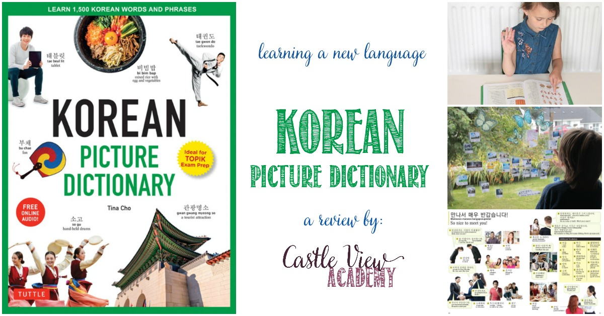 Castle View Academy uses a Korean Picture Dictionary