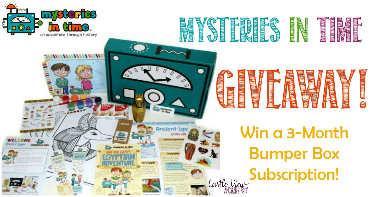 Mysteries In Time Giveaway on Castle View Academy homeschool