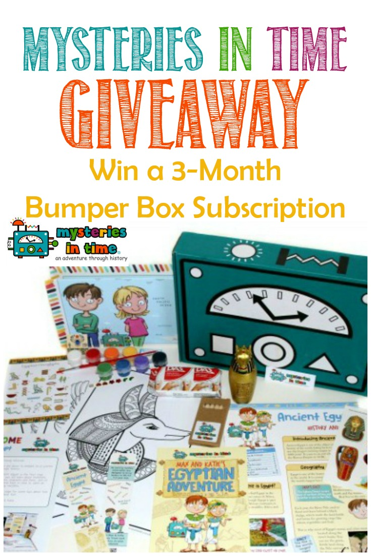 A Mysteries In Time Subscription Box #Giveaway #homeschool #history