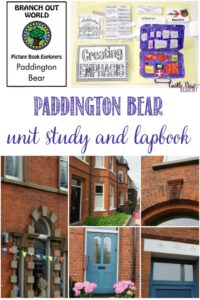 Paddington Bear unit study and lapbook reviewed at Castle View Academy homeschool