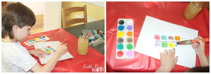 Paint box vocabulary at Castle View Academy homeschool