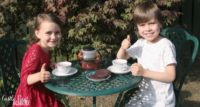 Adagio Tea Time at Castle View Academy homeschool