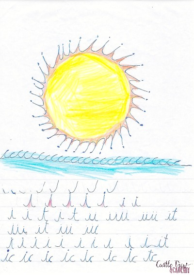 Drawn to Cursive at Castle View Academy homeschool