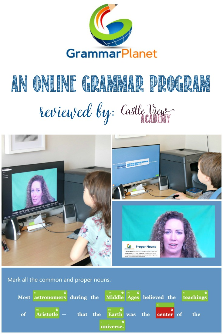 GrammarPlanet: An Online Grammar Program Review by Castle View Academy homeschool