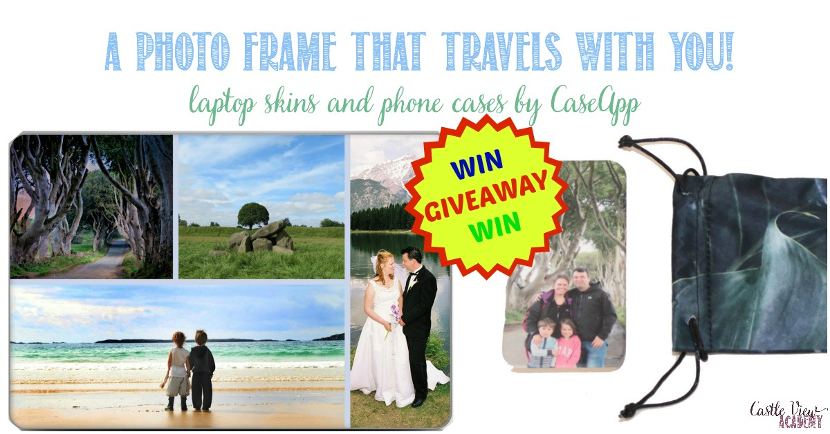 A photo frame that travels with you, a Caseapp review and giveaway at Castle View Academy