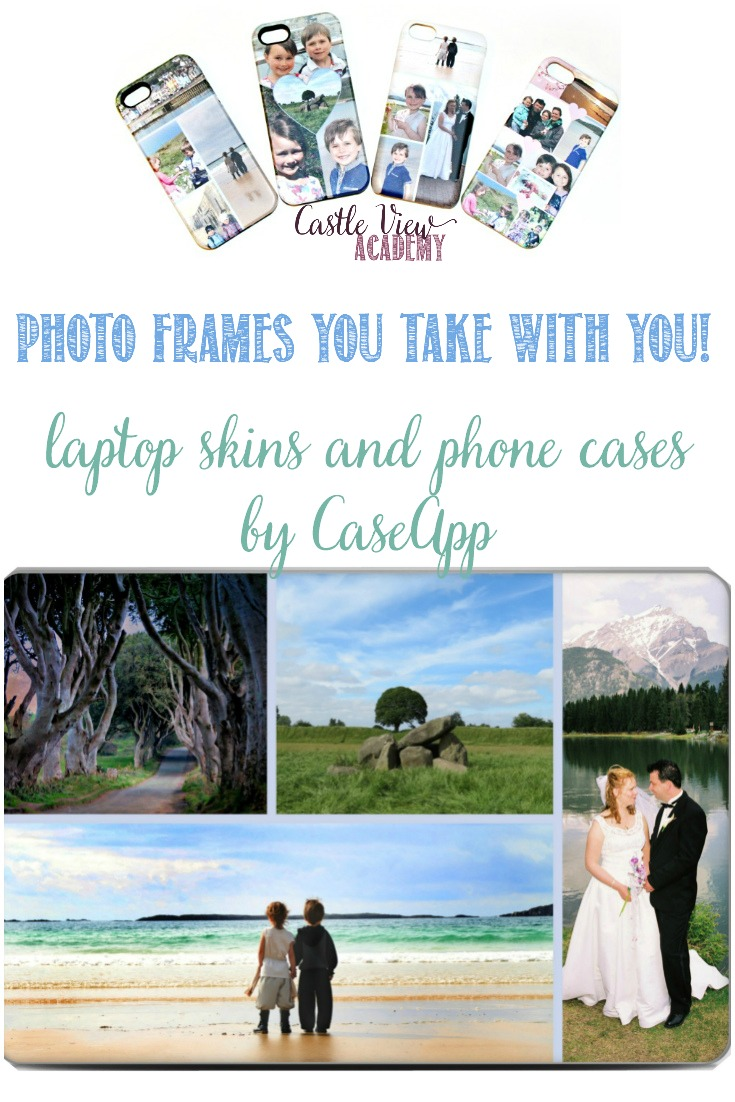 A photo frame that travels with you, a Caseapp review by Castle View Academy homeschool