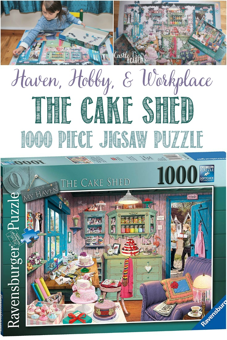 The Cake Shed is a Mix of Haven, Hobby, And Workplace #Ravensburger #puzzle #familyfun