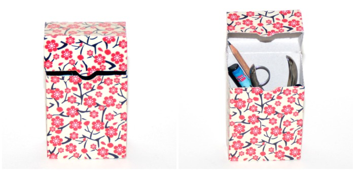 Cherry Blossoms gift wrap pencil box at Castle View Academy homeschool