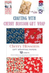Crafting with Cherry Blossom Gift Wrap at Castle View Academy homeschool