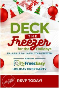 Deck the Freezer for the Holidays with MyFreezEasy and Castle View Academy homeschool