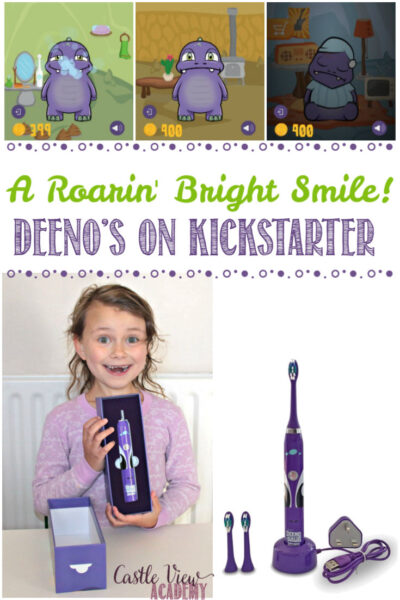 Deeno-Saur Toothbrush is on Kickstarter, Castle View Academy homeschool Reviews