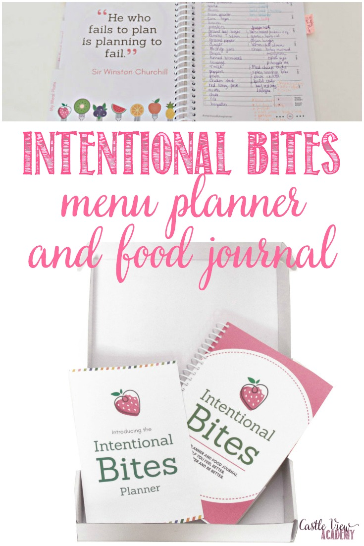 Intentional Bites food journal and meal planner review by Castle View Academy homeschool