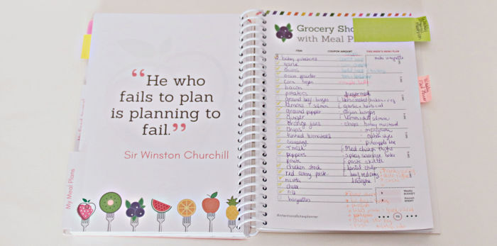 Meal Planner Grocery List and menu using Intentional Bites Planner at Castle View Academy
