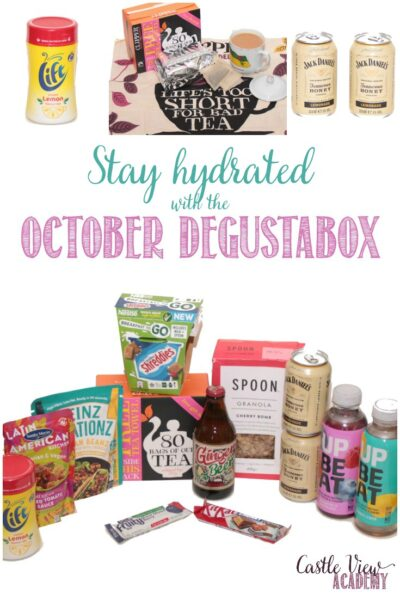 October Degustabox revealed with Castle View Academy homeschool