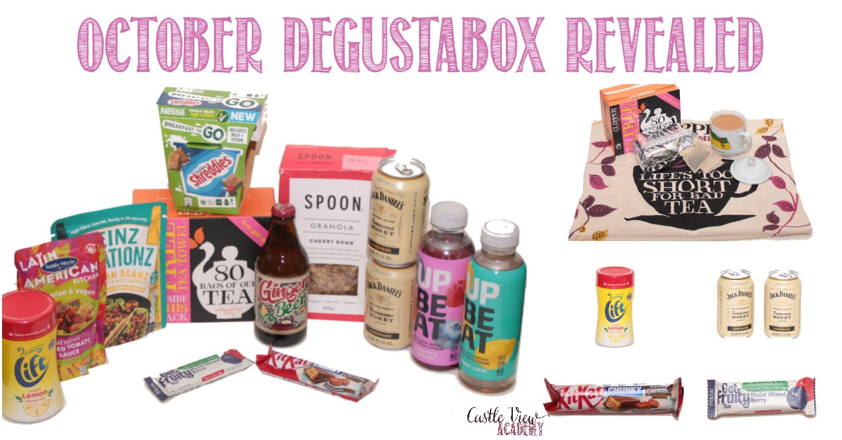 October Degustabox revealed with Castle View Academy