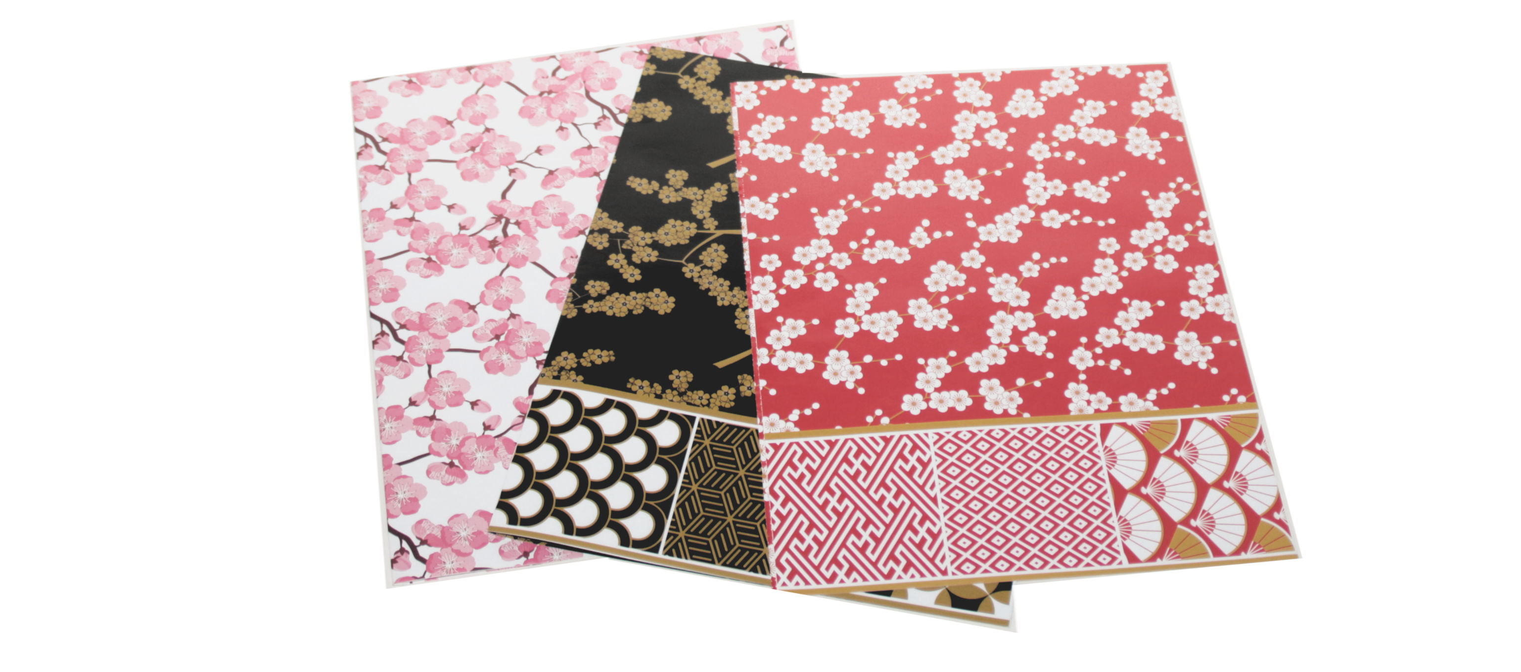 Sample pages from Tuttle's Cherry Blossoms Gift Wrap at Castle View Academy