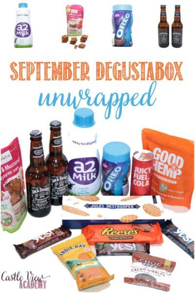 September Degustabox reviewed by Castle View Academy homeschool
