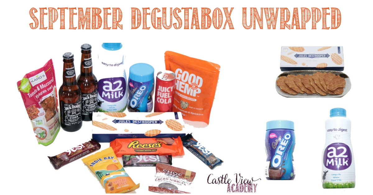 September Degustabox reviewed by Castle View Academy