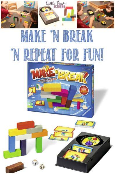 Castle View Academy homeschool reviews Make 'N Break