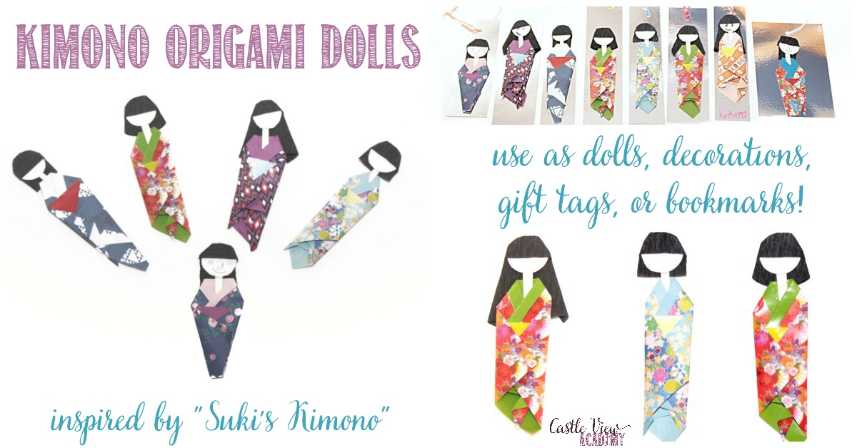 Suki's Kimono Origami Dolls with multiple purposes at Castle View Academy