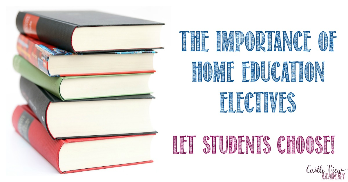The Importance of Home Education Electives at Castle View Academy homeschool