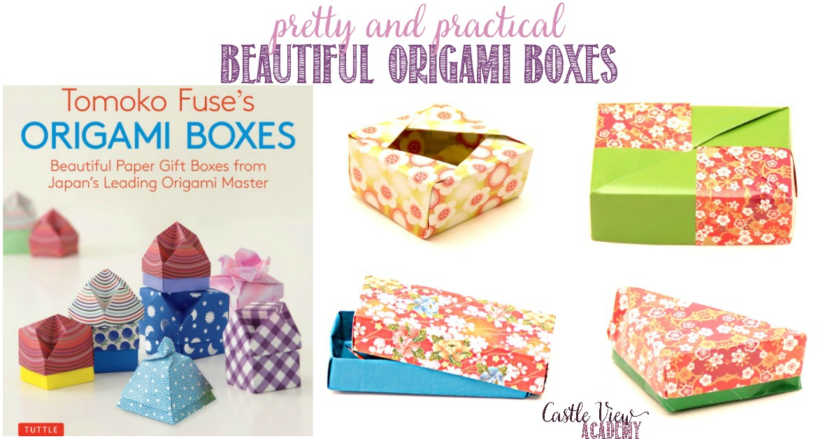 Castle View Academy homeschool reviews Tomoko Fuse's Origami Boxes
