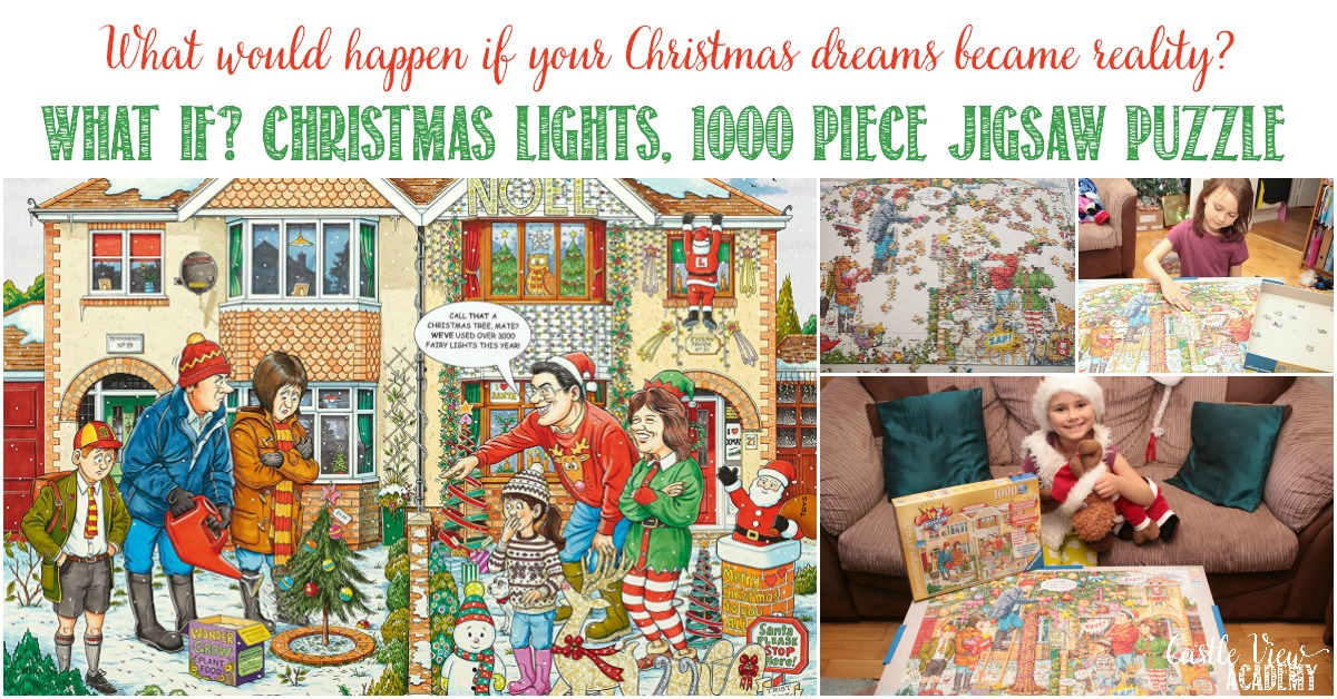 Castle View Academy reviews Ravensburger's What If Christmas Lights Puzzle