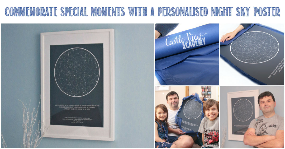 Celebrate special events with a night sky poster, a review by Castle View Academy homeschool