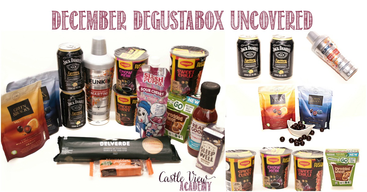 December Degustabox unboxed at Castle View Academy