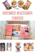 November Degustabox unboxed at Castle View Academy homeschool