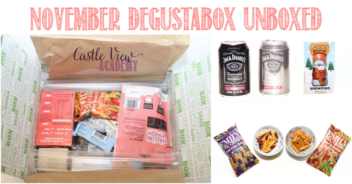 November Degustabox unboxed at Castle View Academy