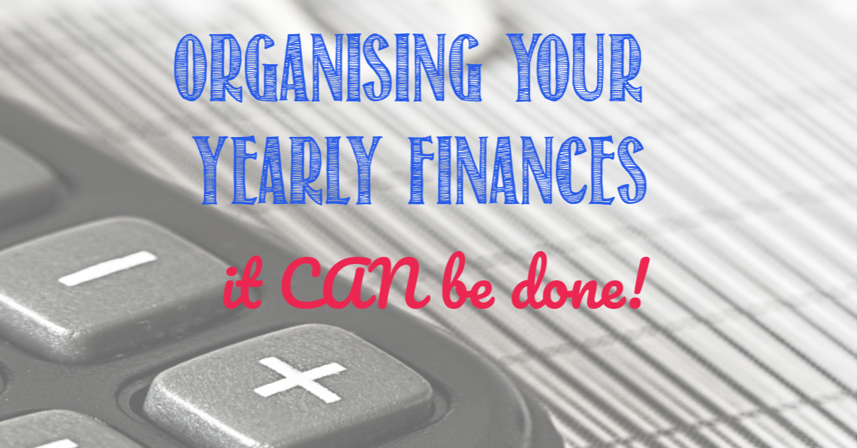 Find out how get your yearly finances organised at Castle View Academy homeschool