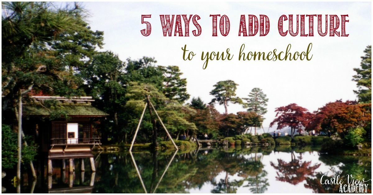 5 Ways to add Culture to your homeschool with Castle View Academy homeschool