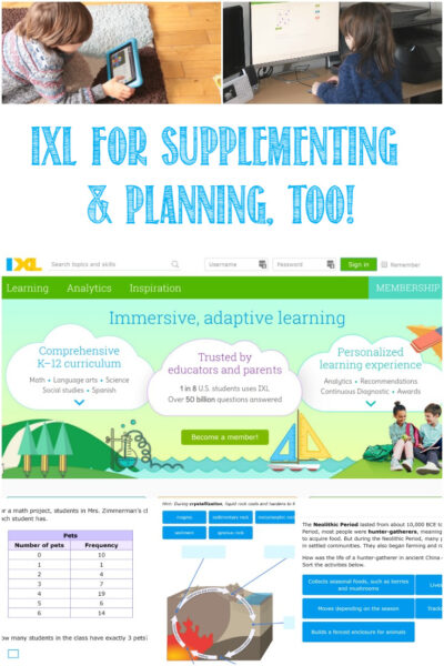 Castle View Academy homeschool reviews IXL for adaptive learning and planning