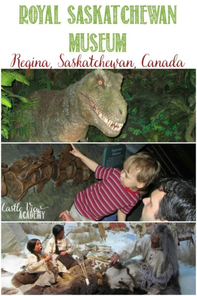 Family day out at the Royal Saskatchewan Museum for Castle View Academy homeschool fieldtrip