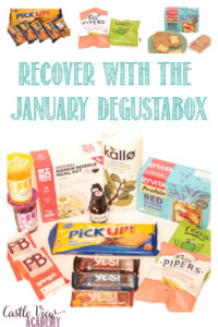 January Degustabox reviewed by Castle View Academy Homeschool