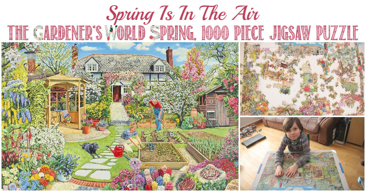Castle View Academy homeschool reviews Gardener's World jigsaw puzzle